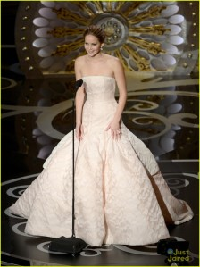 Jennifer Lawrence accepting Best Actress