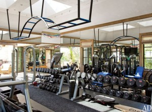 Brady's workout room
