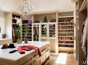 Gisele's walk-in closet