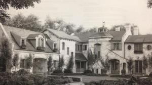 architect rendering of Brookline mansion