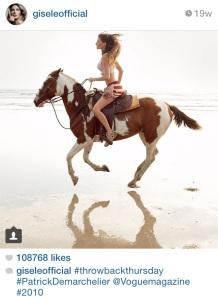 gisele on horse tbt