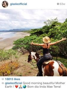 Gisele on horse