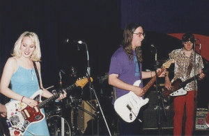 Fuzzy at record release party in 1999