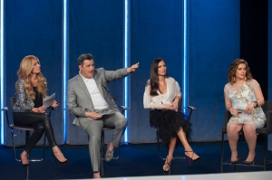 the judges with guest judge Cat Deeley