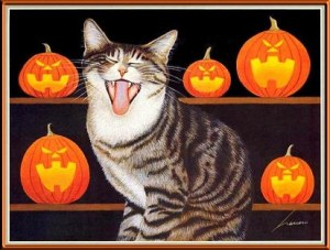 halloweencatyawn
