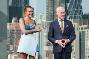 model/ host Hannah Davis and mentor Tim Gunn