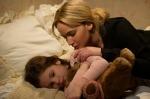 Joy (Jennifer Lawrence) comforts her daughter, Christy, inJOY.